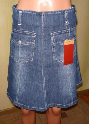 Распродажа. красивая джинсовая юбка с карманами р.s
