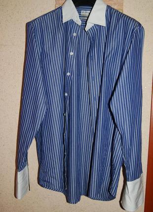 Нарядная натуральная мужская рубашка 100 % котон