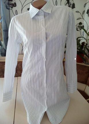 Удлиненная тренд рубашка\вторая вещь в профиле скидка 50%