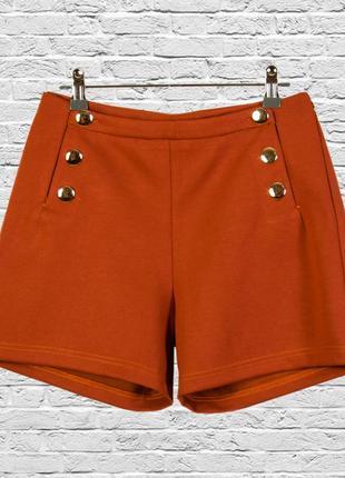 Рыжие шорты демисезонные, коричневые шорты классические зимние
