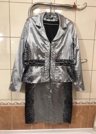 Стильный костюм юбка пиджак