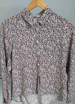 Рубашка с цветочным принтом от h&m