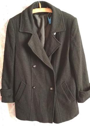 Пальто шерстяное двубортное бойфренд
