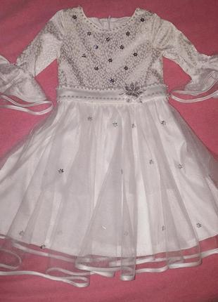 Костюм снежинки , платье снежинки  ,нарядное платье2