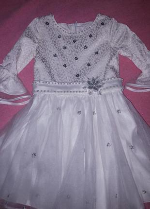 Костюм снежинки , платье снежинки  ,нарядное платье1