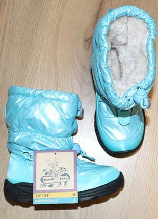 Водонепроникні термочобітки kamik, до -23°с, розмір us 10, сша / чоботи, сапоги5