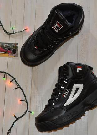 Жіночі кросівки fila  зимові