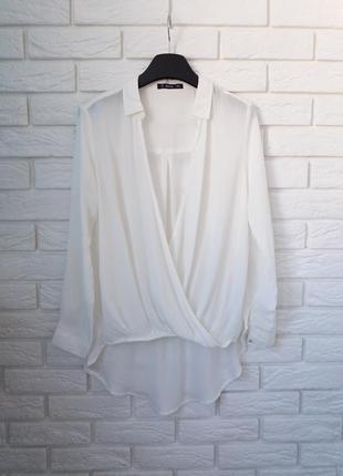 Блузка оверсайз с удлиненной спинкой