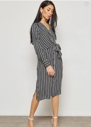 Стильное платье миди в полоску dorothy perkins