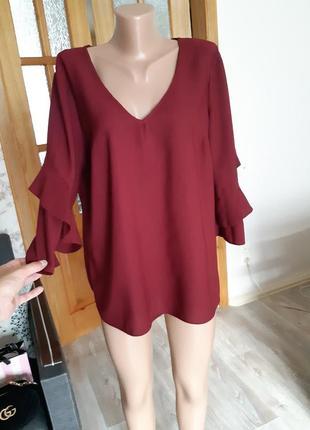 Бордовая блуза l/xl
