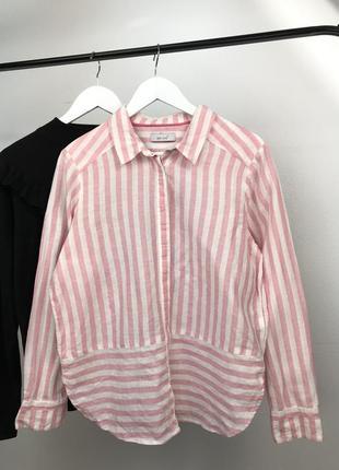 Sale! только до 7.01!  льняная рубашка в полоску per una