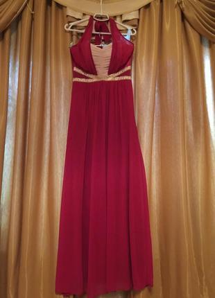 Шикарное платье в пол лондон р 46-48