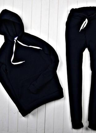 7140b78491ac Женский спортивный костюм зимний на флисе черный, цена - 890 грн ...