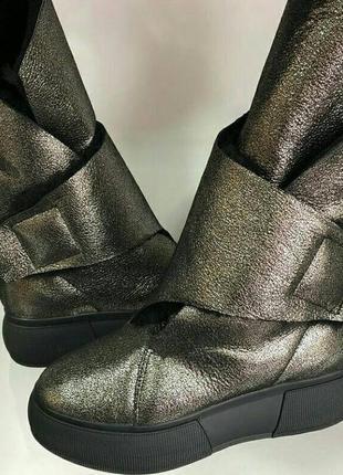 Шикарные высокие ботиночки натуралтный замш на натуральном меху! 37,39,40