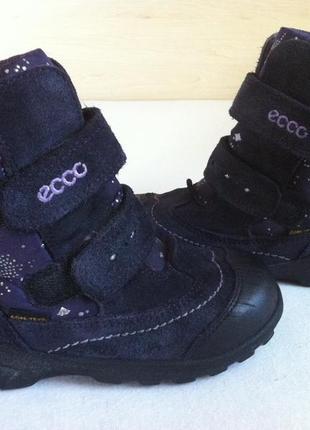 Зимние сапоги ,ботинки ecco с мембраной gore-tex р. 28 стелька 17,5 см оригинал !!!