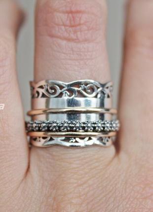 Серебряное кольцо плаза р.19,5-20