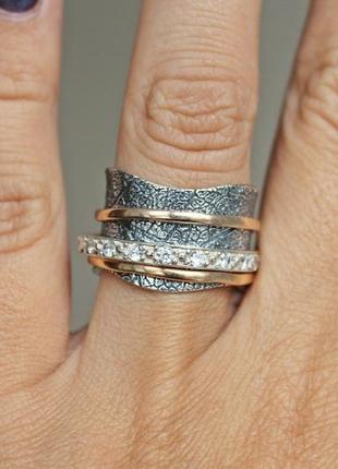 Серебряное кольцо солярис р.17,5-18