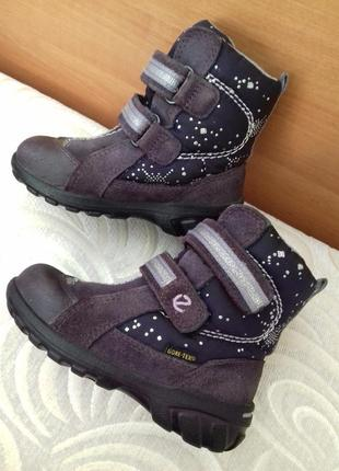 Зимние ботинки ecco 23р. еко эко