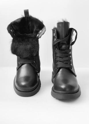 Зимние кожаные женские ботинки на шнуровке.размеры-36 37 38 39 40