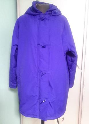 Демисезонная куртка с капюшоном на синтепоне 20 размер