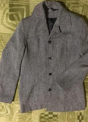 Пиджак пальто серое opinion