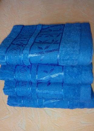 Махровое полотенце бамбук для лица, размер 50 × 100 см.