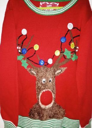 Новогодний свитер от ребел