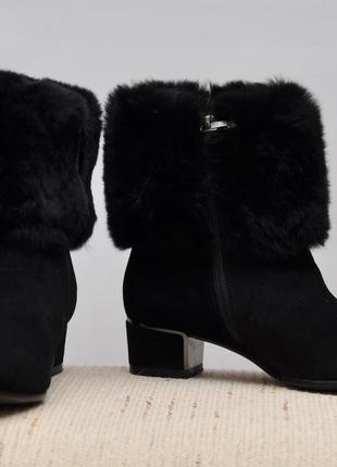 Шикарные зимние ботинки, натуральная замша, натуральная опушка, натуральная овчина внутри!