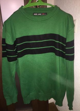 Кофта светр пуловер свитер зелений madoc jeans