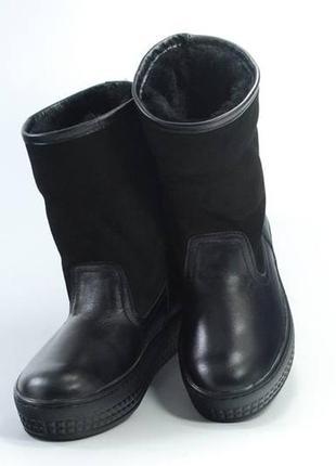 Зимние кожаные женские сапоги, угги, валенки, р-р 36, 37, 38