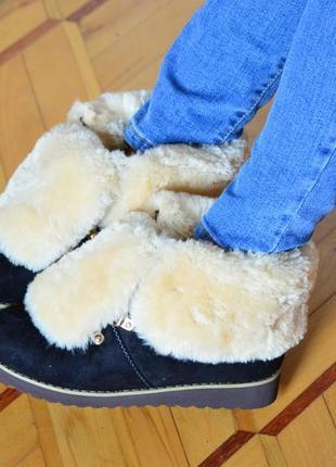 Ботинки зимние, теплые ботинки-унты, сапоги теплые