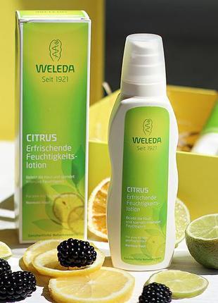 🍋цитрусовое молочко для тела weleda, натуральный состав.