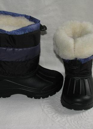 Детские дутики сноубутсы зимние, не промокают, 17,5-19 cм