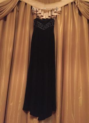 Шикарное платье в пол р s-m