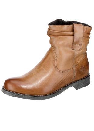 38.5-39 pier one,германия,оригинал,натуральная кожа+мех! теплые,комфортные ботинки сапоги