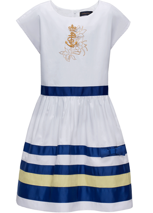 Невероятно нежное легкое платье с пышной юбкой из 100% хлопка