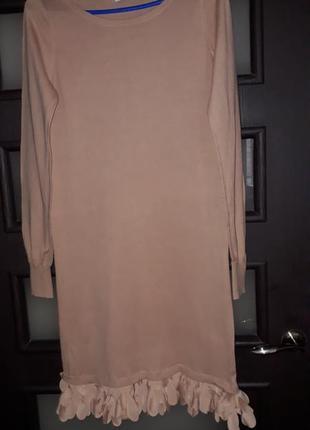 Вязаное платье oasis длинна миди размер s