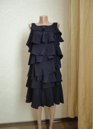 Черное вечернее платье до колен monsoon