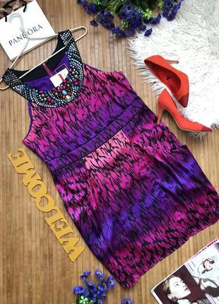 Новое с биркой! красивое вечернее платье с камнями на декольте