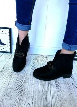 Новые черные зимние ботинки размер 36-41