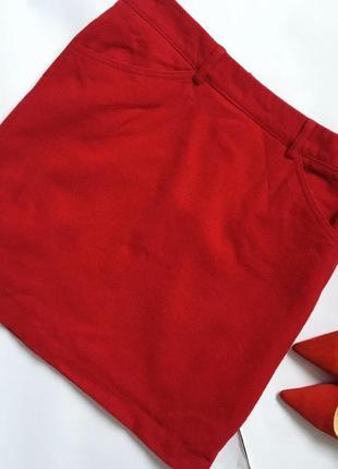 Яркая шерстяная юбка мини ❤️
