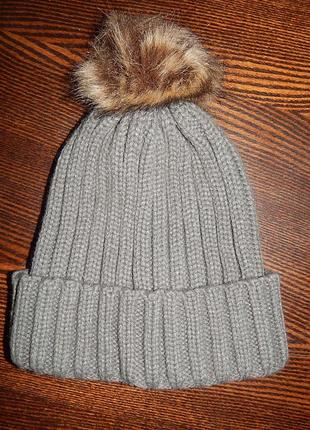 Теплая новая стильная вязаная шапка c&a