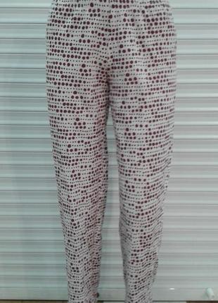 Трикотажные пижамные домашние штаны f&f