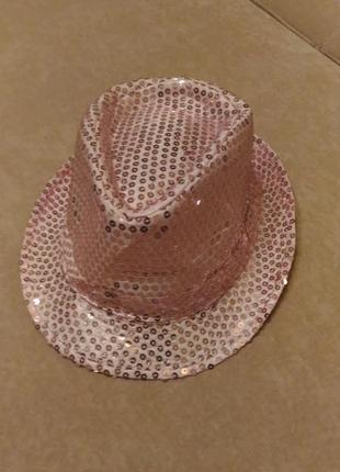 Шляпа новогодняя с пайетками