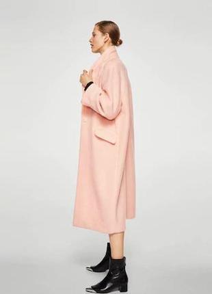 Очень крутое пальто шерсть ! mango испания оверс. шикарный цвет- хит  -20193 фото