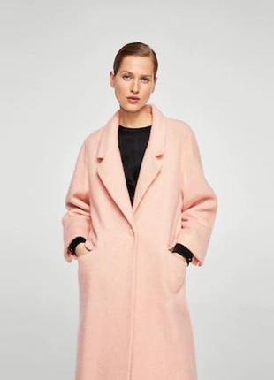 Очень крутое пальто шерсть ! mango испания оверс. шикарный цвет- хит 2018-2019