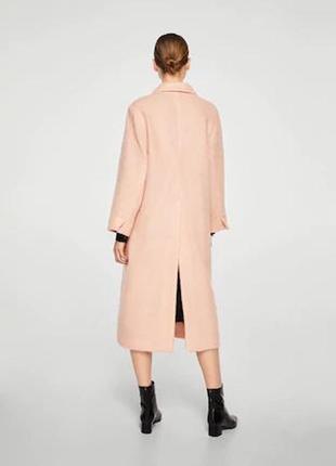 Очень крутое пальто шерсть ! mango испания оверс. шикарный цвет- хит  -весна 20204 фото