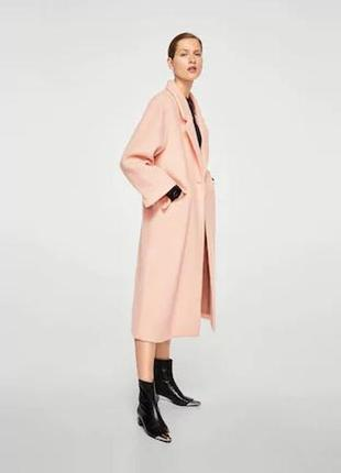 Очень крутое пальто шерсть ! mango испания оверс. шикарный цвет- хит  -весна 20202 фото