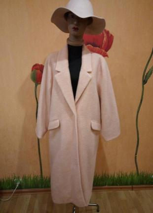 Очень крутое пальто шерсть ! mango испания оверс. шикарный цвет- хит  -20195 фото