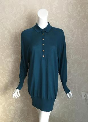 Gucci оригинал италия кашемировое шелковое платье свитер